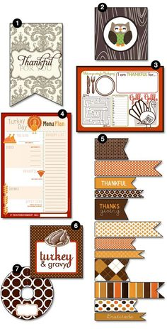 Free printables for menus, cards, placecards, etc. #Thanksgiving #christmas| http://holiday.kira.lemoncoin.org