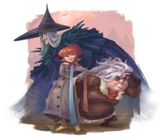 """Lovely character art for """"A Wrinkle in Time."""""""