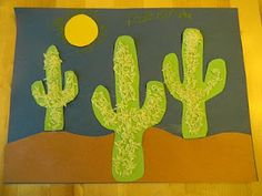 paper and rice cactus craft