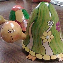 Just a few of my gourds created with carving, woodburning, paint, stai… :: Hometalk