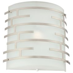 Labyrinth Wall in Satin Nickel finish Hallway Sconces, Glass Etching, Etched Glass, Diffused Light, Nickel Finish, Wall Sconce Lighting, One Light, Kitchen Remodel, Wall Lights