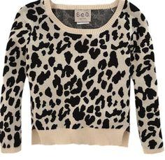 Leopard Print Sweater by Sea