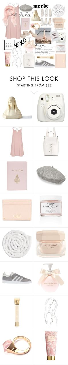 """paris, france"" by que2001 ❤ liked on Polyvore featuring Fujifilm, River Island, French Connection, Mark Cross, Gucci, Kate Spade, Salvatore Ferragamo, Herbivore, VIPP and Elie Saab"