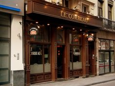 """LE CORBEAU """"THE RAVEN"""" BEER CAFE BRUSSELS BELGIUM"""