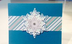 stampin up festive flurry gift card holder