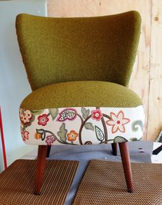 Love the upholstery treatment by Bespoke Upholstery
