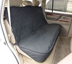 Deluxe Quilted and Padded Back Seat Bench cover with NonSlip fabric in Seat area  One size fits all 56W Black ** Check out this great product. (This is an affiliate link) #CarTravelAccessories