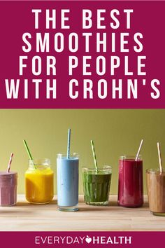 If you have Crohn's disease, drinking smoothies can help shore up your diet. Frozen Pineapple, Frozen Banana, Power Smoothie, Unsweetened Coconut Milk, Good Sources Of Protein, Good Smoothies, Crohns, Mixed Berries, Fermented Foods