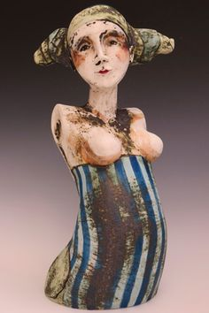 by Sally McDonell Ceramic Figures, Clay Figures, Ceramic Art, Ceramic Bowls, Ceramic Sculpture Figurative, Sculpture Clay, Ceramic Sculptures, Mannequin Art, Pottery Studio