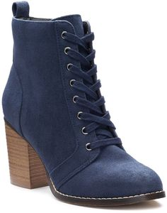 b41e7824190602 Candies block heel women s boot in a perfect blue hue  aff  shoes  style