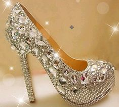 sparkly wedding shoes Bling crystal bridal shoes custome wedding heels wedding pumps custom shoe prom shoes accpect custome order