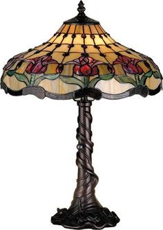 Colonial Tulip Table Lamp - Tiffany Style Lamps