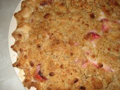 Mennonite Girls Can Cook: Rhubarb,Strawberry Streusel Pie