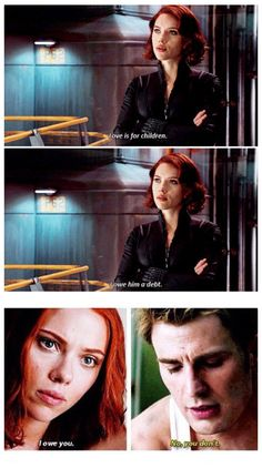 This is important cause Nat is trying to have the same partnership with Steve as with Clint, but Steve won't let her. He is showing that he cares about her more than that...#ShipStillSails #Romanogers