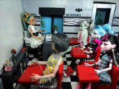 How to Make a Monster High Classroom for Dolls
