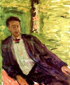 Portrait of a gentleman (green background) - Richard Gerstl