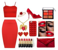 """Red"" by martineeikefjord on Polyvore featuring WearAll, Marc Jacobs, Miu Miu, L.K.Bennett, L'Oréal Paris and MAC Cosmetics"