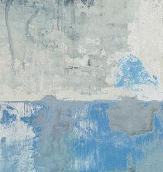 Blue Grey Weathered Wall Mural