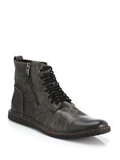 John Varvatos Star USA - Barrett Leather Side-Zip Boots