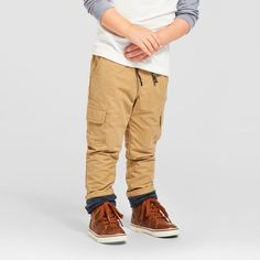 Toddler Boys' Jersey Lined Pant