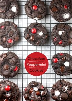 Chocolate Peppermint Cookies ~these look good and i dont even really like mint
