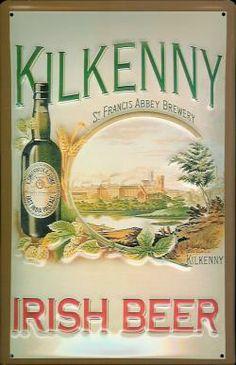 KILKENNY IRISH BEER Metal Pub Sign  Vintage Retro   Home Bar