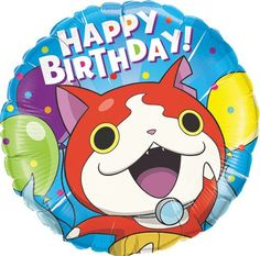 Yo-Kai Watch Jibanyan Birthday Balloon