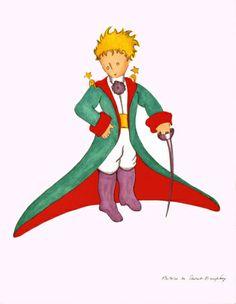 Antoine De Saint Exupery Figurative Print - - The Little Prince Big Coat Little Prince Party, The Little Prince, Children's Book Illustration, Illustrations, Prince Drawing, Children's Book Characters, Decoupage, Book Projects, Sale Poster