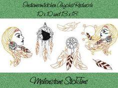 Stickdatei Indianermädchen Ahyoka 13 x 18