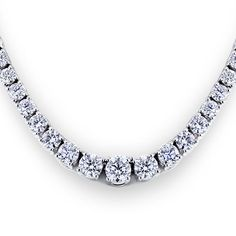 This magnificent diamond tennis necklace is sure to be noticed by everyone at the gala.