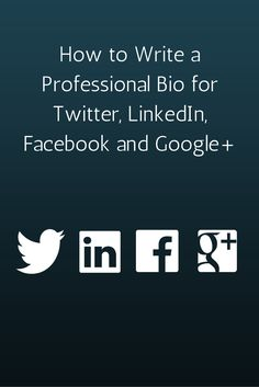In this post, we'll go over the universal principles of a great social media bio -- regardless of the network. We'll also take a look at the big social m. Inbound Marketing, Marketing Digital, Marketing Mail, Facebook Marketing, Internet Marketing, Online Marketing, Social Media Marketing, Facebook Bio, Marketing Ideas