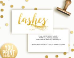 Lash Extension Business Card, Lashes Business Card, Customized Business Card, Eyelash Extensions Business card, DIGITAL, YOU PRINT
