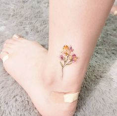 Floral ankle piece by Handitrip