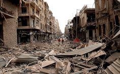 Un'immagine di Gaza dopo i bombardamenti israeliani