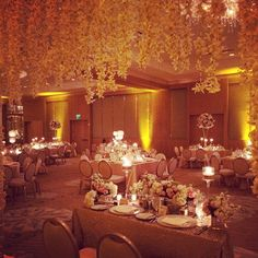 Wedding at the #RitzCarltonFtLauderdale under a canopy of orchid leis at a beautiful  sparkling table. #petalprod