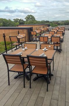 Our Atlantic outdoor furniture collection on a rooftop bar. # restaurantfurniture #outdoorfurniture Commercial Patio & 132 Best Commercial Outdoor Furniture images in 2019 | Outdoor ...