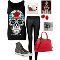 Day of the dead clothing and accessories.
