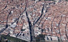 Rosario Belda. Proyecto Grassy, Madrid. Mapa de detalle. Google Earth