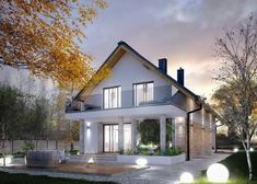 Find home projects from professionals for ideas & inspiration. AMARYLIS 5 by Biuro Projektów MTM Styl - domywstylu. House Front Design, Modern House Design, Bungalow Conversion, Model House Plan, English House, Best House Plans, House Entrance, Modern Exterior, Home Fashion