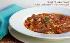 Olive Garden Slow Cooker Pasta Fagioli | Weight Watchers Friendly Recipe