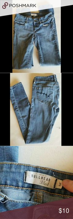 Bullhead Black Skinny Jeans Bullhead Black skinny jeans (3) - worn but lots of life left! $10 Bullhead Pants Skinny