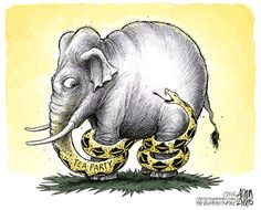Adam Zyglis - The Buffalo News - GOP Cant Go Forward - Does the Tea Party within the GOP hamper or push forward the party? Right To Work States, Buffalo News, American Manufacturing, Set You Free, Political Cartoons, Tea Party, Photo Galleries, Nerd, Politics