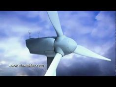 A wind turbine turns on blue time lapse clouds (Loop).     Purchase this clip from A Luna Blue:   http://www.alunablue.com/variety-stock-video/shades-of-blue/shades-of-blue-03/clip-05.html     A Luna Blue Stock Video.   Imagery for Your Imagination.   http://www.alunablue.com/stock-video