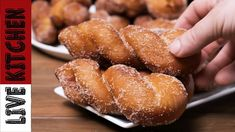 Λουκουμάδες με Ίνες σαν Τσουρέκι (θα Πάθετε πλάκα) Twisted donuts recipe... Greek Desserts, Kitchen Living, Pretzel Bites, Doughnuts, Cake Cookies, Sweet Recipes, Waffles, Sweet Tooth, Favorite Recipes
