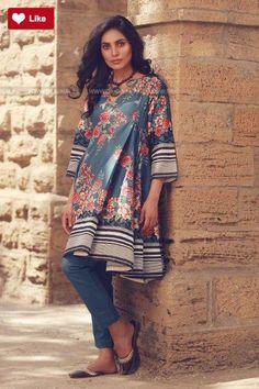 Khaadi Winter Volume 1 2017 Whatsapp: 00923452355358 Website: www. Simple Pakistani Dresses, Pakistani Fashion Casual, Pakistani Wedding Outfits, Pakistani Bridal Wear, Pakistani Dress Design, Indian Dresses, Indian Fashion, Stylish Dresses For Girls, Casual Dresses