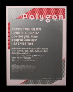 FPO: Polygon Typeface Poster