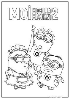 Coloriage Sur LaGuerche MinionsFree PrintablesPortugalKid DrawingsPrint Coloring PagesBeautiful