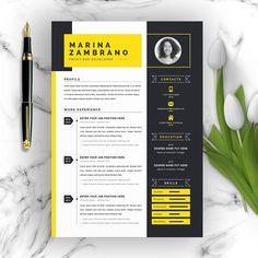 Minimalist Clean Resume/CV Template by ResumeInventor on Creative Market - Resume Template Ideas of Resume Template - Minimalist Clean Resume/CV Template by ResumeInventor on Creative Market Basic Resume, Resume Cv, Professional Resume, Visual Resume, Simple Resume, Resume Layout, Modern Resume Template, Resume Template Free, Creative Resume Templates