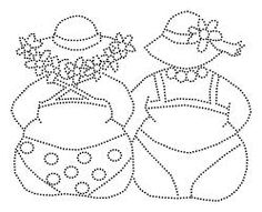 Dicke Damen Rand – – - Home Decor Ideas Paper Embroidery, Machine Embroidery, Embroidery Designs, Dot Painting, Fabric Painting, Plus Size Art, Art Impressions, Colouring Pages, Coloring