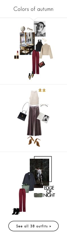 """""""Colors of autumn"""" by ellasophialove ❤ liked on Polyvore featuring GE, Tom Ford, Coffee Shop, Jamie Young, Valentino, MANGO, Rosetta Getty, Lizzie Fortunato, Maison Margiela and Cutler and Gross"""